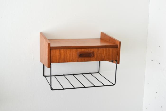 Wall shelf with rack