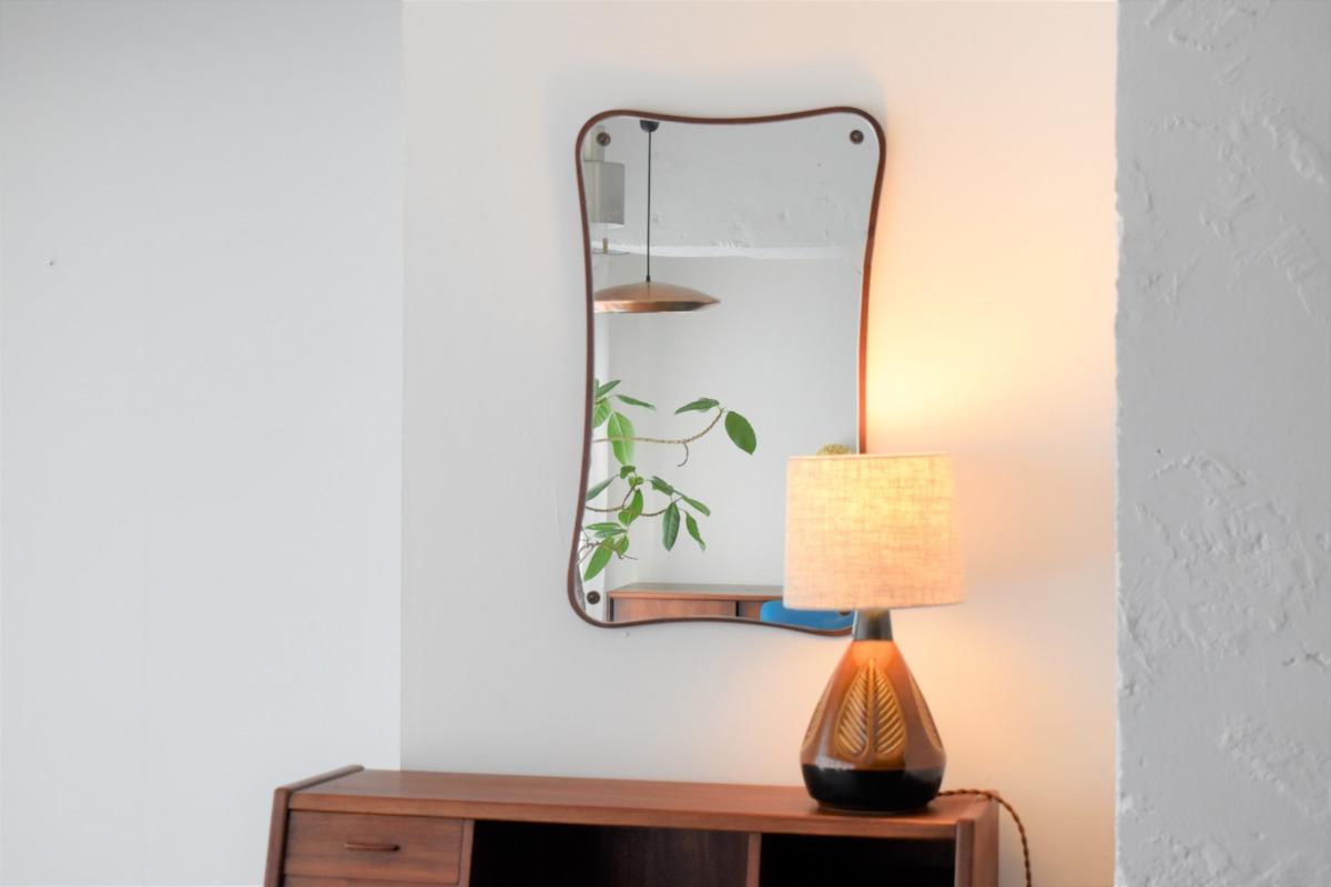 Wall Mirror in Teak